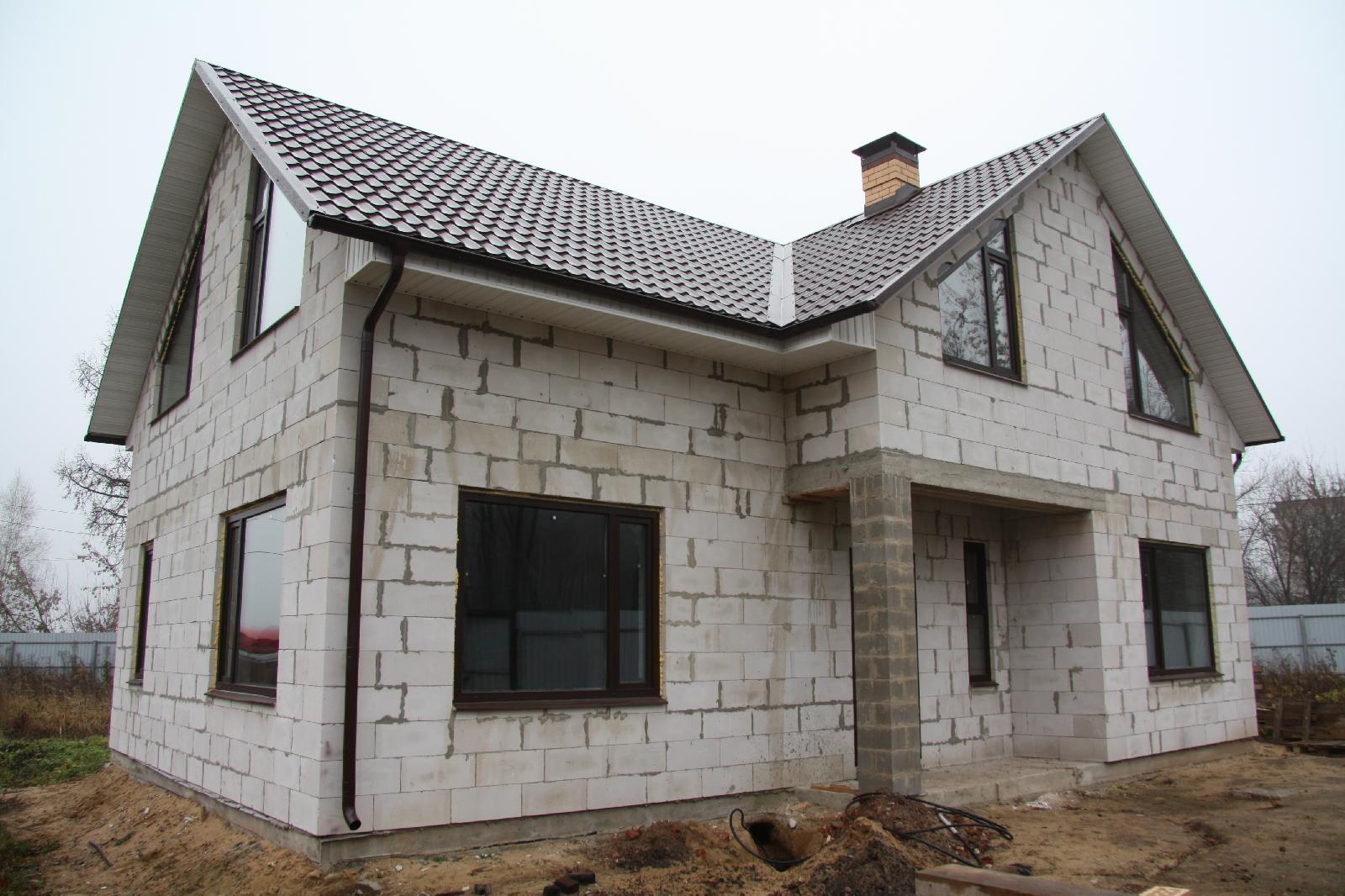 Строительство дома из блоков с фотографиями